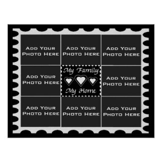My Family My Home Photo Template Poster