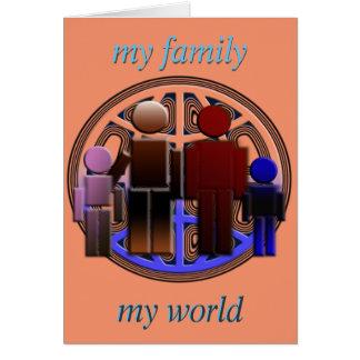 my family-my world card