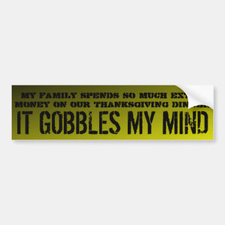 My family spends so much extra $$$ ... car bumper sticker