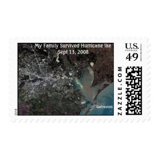 My Family Survived Hurricane Ike -... - Customized Postage Stamp
