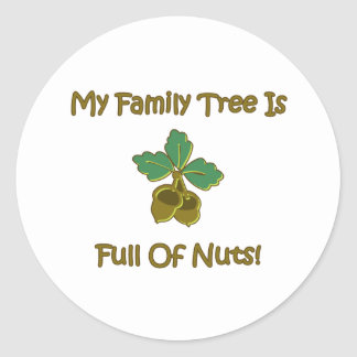 My Family Tree Classic Round Sticker