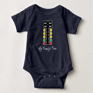 My Family Tree - Drag Racing Christmas Tree Baby Bodysuit