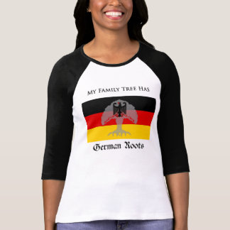 """""""My Family Tree Has German Roots"""" t-shirt"""
