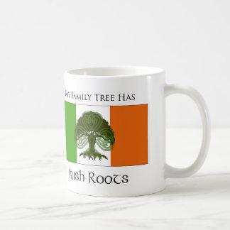 """""""My Family Tree Has Irish Roots"""" mug"""