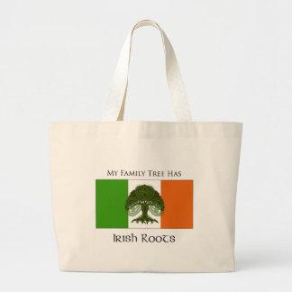 """My Family Tree Has Irish Roots"" tote bag"