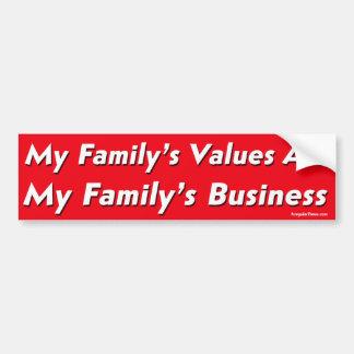 My Family Values Progressive Version Bumper Stickers
