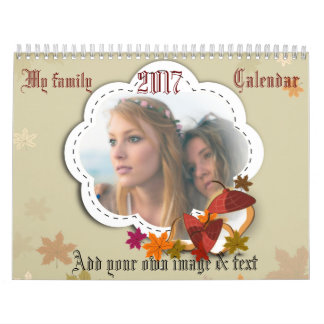 My family within a framework in each month calendar