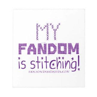 My Fandom In Stitching, version 2 Notepad