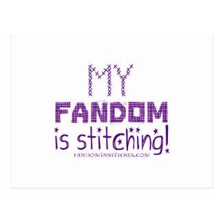My Fandom In Stitching, version 2 Postcard