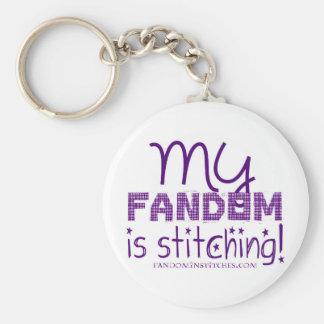 My Fandom Is Stitching! Basic Round Button Keychain