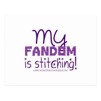 My Fandom Is Stitching! Postcard