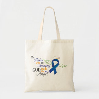 My Father an Angel - Anal Cancer Tote Bag