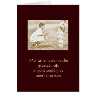 My father greeting card
