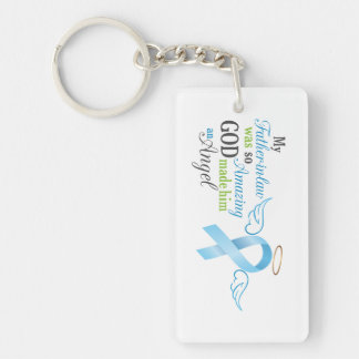 My Father in law An Angel - Prostate Cancer Keychain