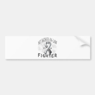 My Father-In-Law Is A Fighter Grey Car Bumper Sticker