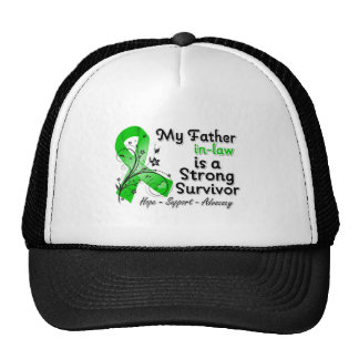 My Father-in-Law is a Strong Survivor Green Ribbon Hat