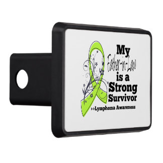 My Father-in-Law is a Strong Survivor of Lymphoma Trailer Hitch Cover