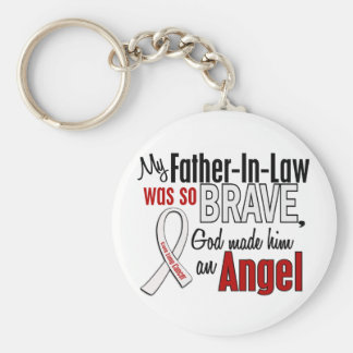 My Father-In-Law Is An Angel Lung Cancer Keychain