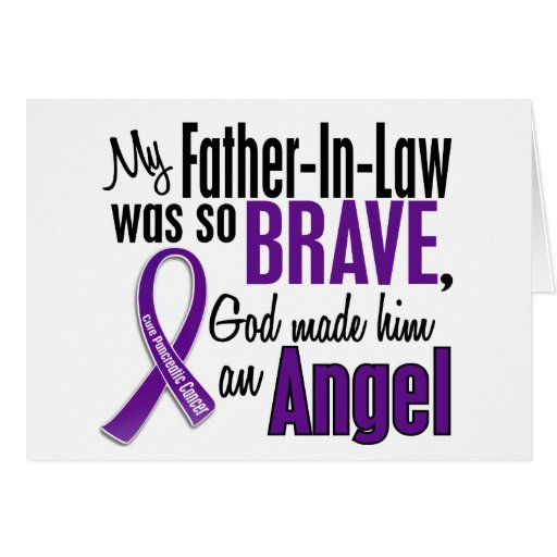 My Father-In-Law Is An Angel Pancreatic Cancer Greeting Card