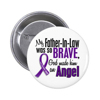 My Father-In-Law Is An Angel Pancreatic Cancer Pinback Button