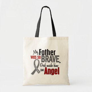 My Father Is An Angel 1 Brain Cancer Budget Tote Bag
