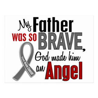 My Father Is An Angel 1 Brain Cancer Post Card