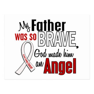 My Father Is An Angel Lung Cancer Postcard
