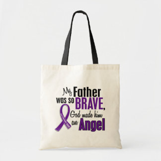 My Father Is An Angel Pancreatic Cancer Budget Tote Bag