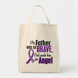 My Father Is An Angel Pancreatic Cancer Grocery Tote Bag