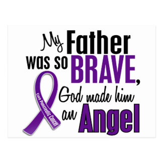 My Father Is An Angel Pancreatic Cancer Postcard