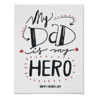 My father is my hero poster