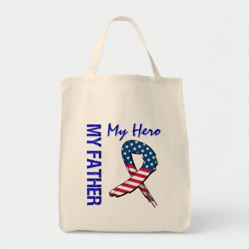My Father My Hero Patriotic Grunge Ribbon Bag