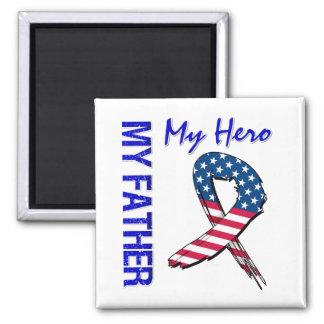 My Father My Hero Patriotic Grunge Ribbon Fridge Magnet