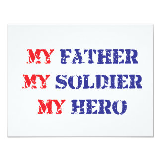 My father, my soldier, my hero announcement