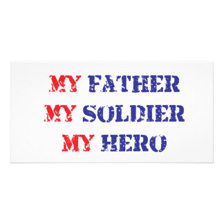 My father, my soldier, my hero photo cards
