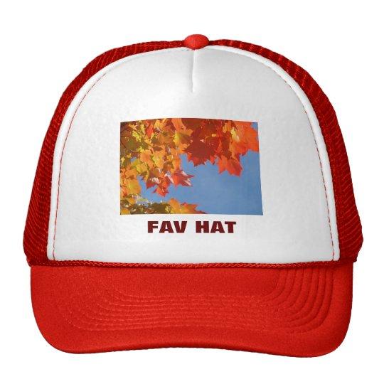 My Fav Hat Truckers hats Autumn Leaves custom