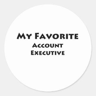 My Favorite Account Executive Classic Round Sticker