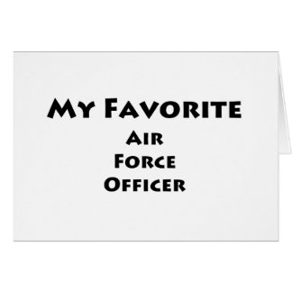My Favorite Air Force Officer Card