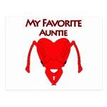 My Favorite Auntie Postcard