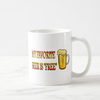 My Favorite Beer is Free Coffee Mug