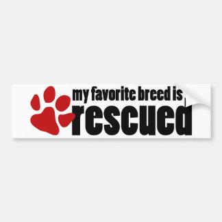 My Favorite Breed Bumper Sticker
