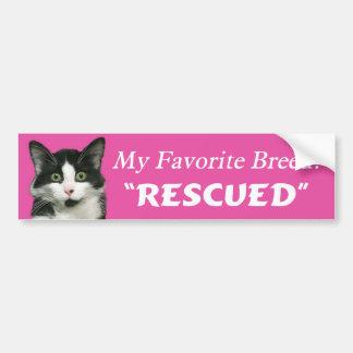 My Favorite Breed Cat Bumper Sticker Car Bumper Sticker