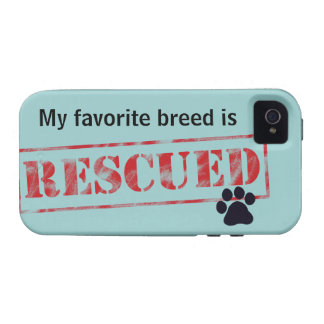 My Favorite Breed Is Rescued Case-Mate iPhone 4 Cases