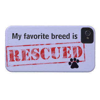My Favorite Breed Is Rescued iPhone 4 Case-Mate Case