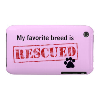 My Favorite Breed Is Rescued Case-Mate iPhone 3 Case