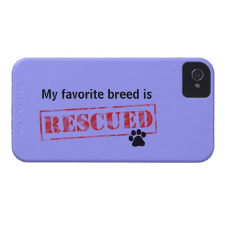 My Favorite Breed Is Rescued Case-Mate iPhone 4 Case