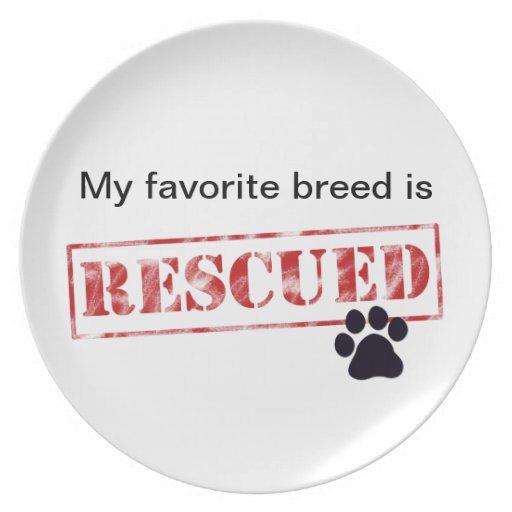 My Favorite Breed Is Rescued Dinner Plate