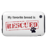 My Favorite Breed Is Rescued iPhone 3 Tough Covers