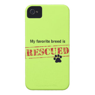 My Favorite Breed Is Rescued iPhone 4 Case