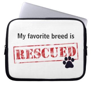 My Favorite Breed Is Rescued Laptop Computer Sleeves